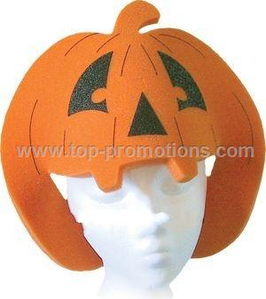 Pumpkin Foam Visor Hat