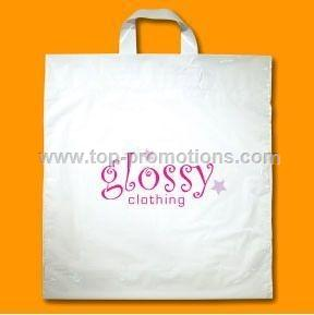 White Plastic Bags with Soft Loop Handles