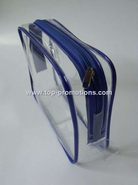 Small clear PVC bag for travel