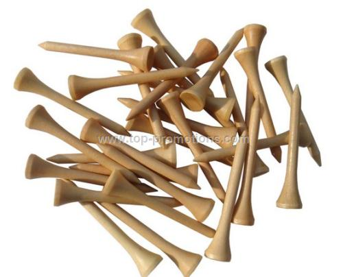 Wood Golf Tees with Cup