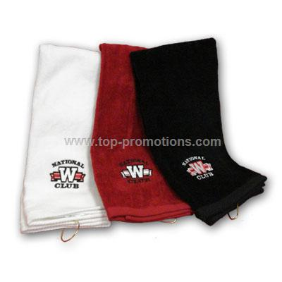Tri fold golf towel