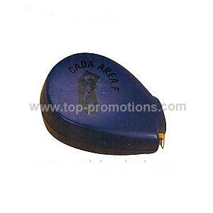 Oval shaped blue tape measure
