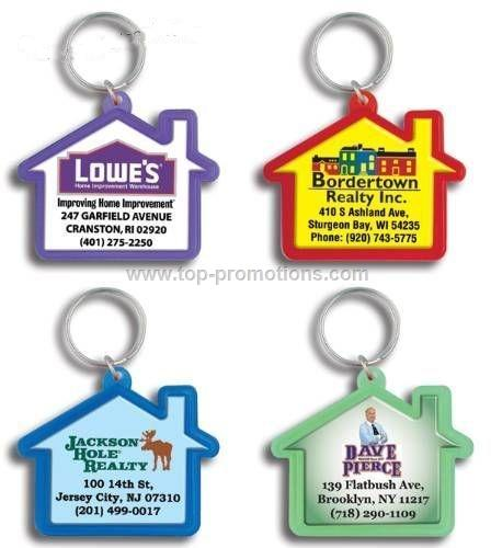 House Shaped Domed Key Tag
