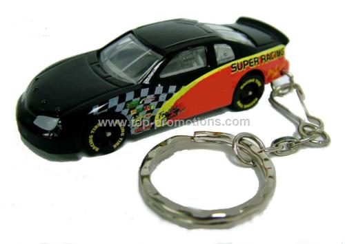 racing car keychain