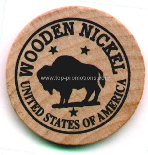 Natural Hardwood Wooden Nickel