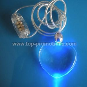 Flashing Necklace with Heart Shape
