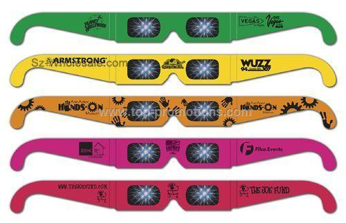 Neon Fireworks Glasses Custom Imprint