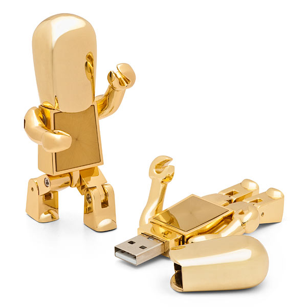 Robot metal usb drives