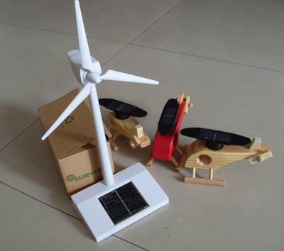 Solar Toy, Solar Wooden Helicopter Toy