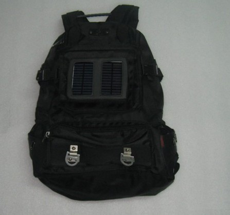 Backpack with Solar Charging