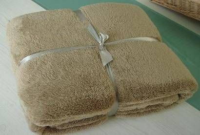 Solid plush blanket with both sides brushed