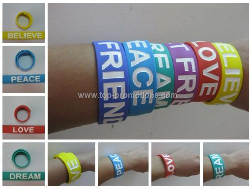 Fashion Silicone Slap Bracelet