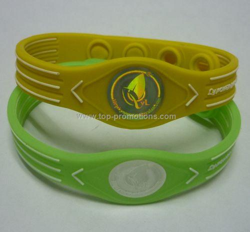 silicone bracelet with hologram