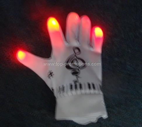 Red Color LED Gloves