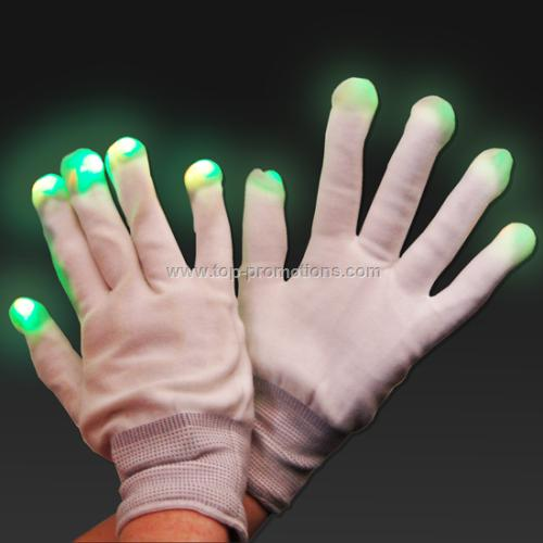 Pair of Light Up LED Gloves Rave Disco Party Hallo