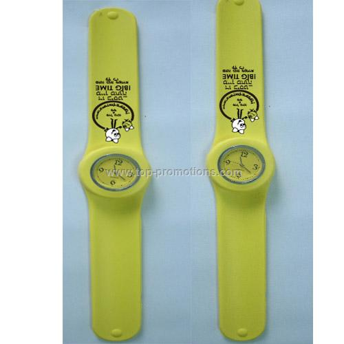 Silicone Slap Watch Snap Watch