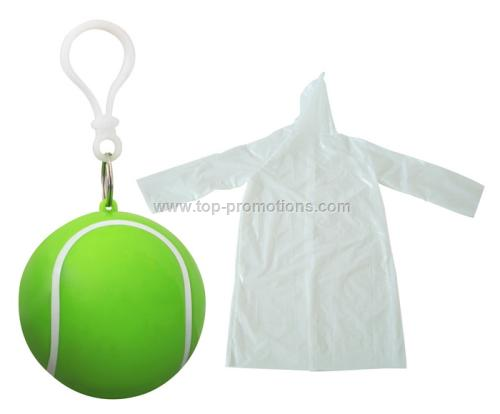 raincoat keychain tennis ball