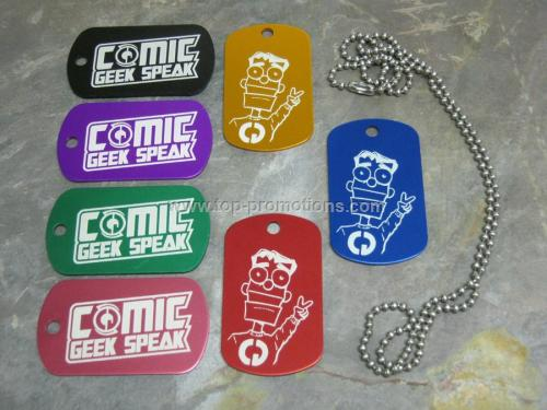 Anodized dog tag