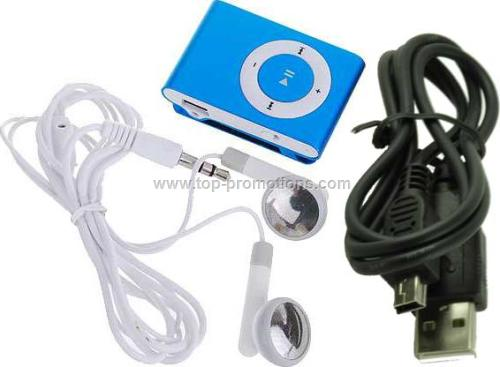 MP3 player with clips