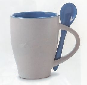 coffee ceramic cup with scoop