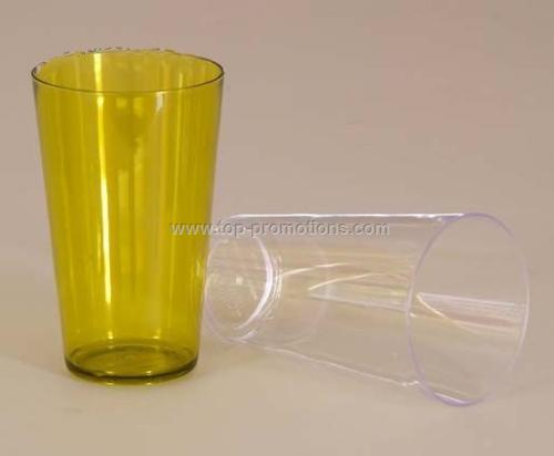 See through plastic cup
