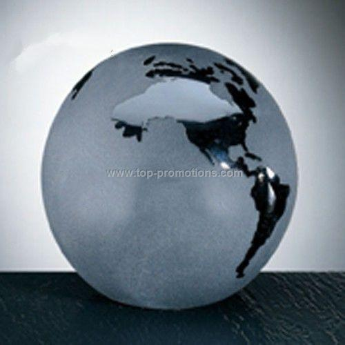Black Frosted Ocean World Globe