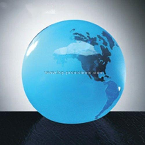 Blue Frosted Ocean World Globe