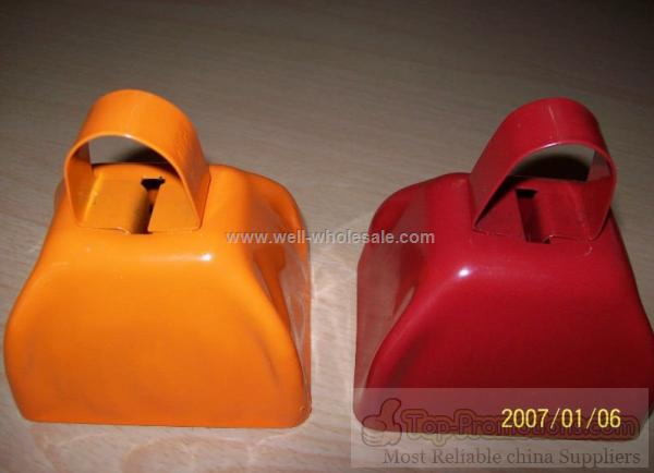 Sports Cow Bells,Promotional Metal Cowbell,Noise Maker Cowbells Colorful metal cow bell