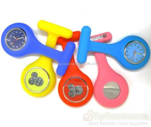 new shape silicone nursing pocket watch