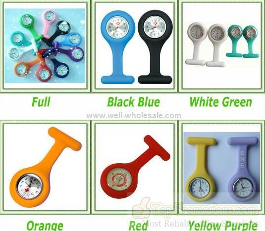 Silicone 2012 new nurse pocket watch