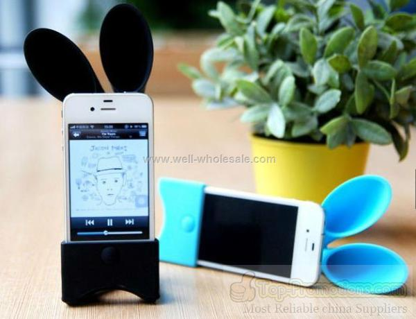 2012 new arrival silicone iphone speaker