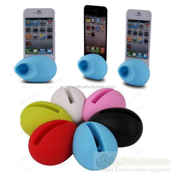 2012 silicone stand Iphone Speaker for iphone 5 amplifier dock
