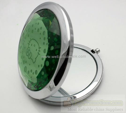 2012 new style round metal crystal compact mirror