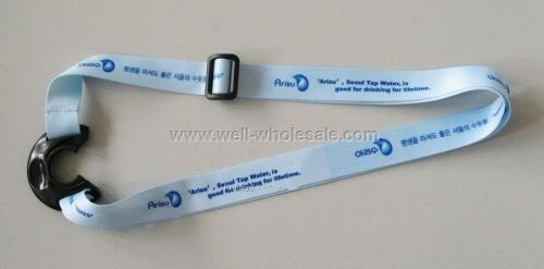Imprinted promotional Bottle holder lanyard