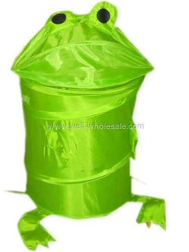 Cartoon polyester folding laundry basket