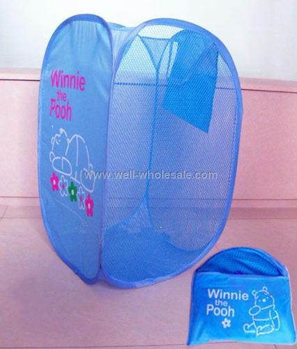 Folding polyester laundry basket, foldable laundry bag