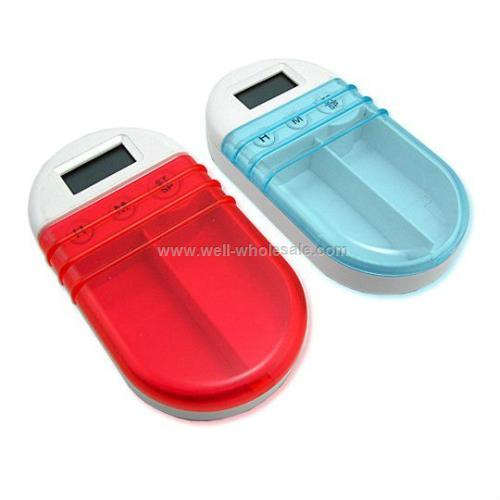 Plastic Pill Box With Timer