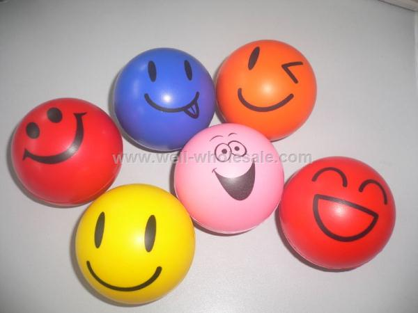 Smile face pu stress ball