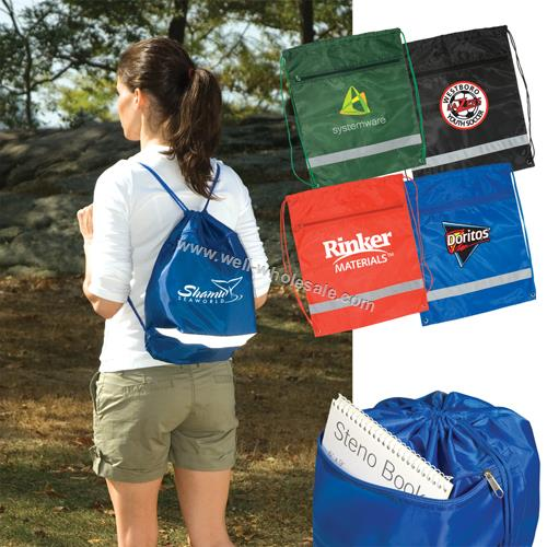 Promotional polyester drawstring bag/drawstring backpack