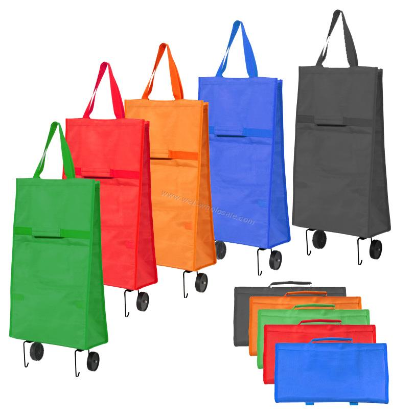 Folding shopping trolley bag