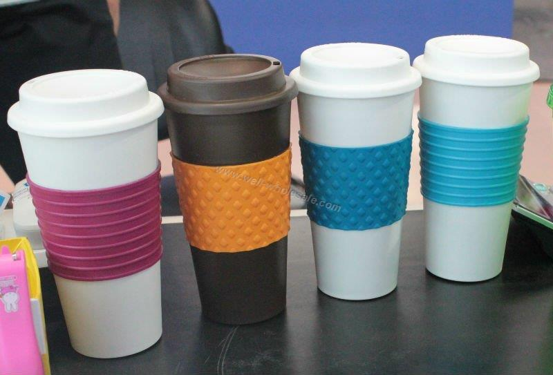 16 Oz Plastic Insulated Coffee Mug With sleeve