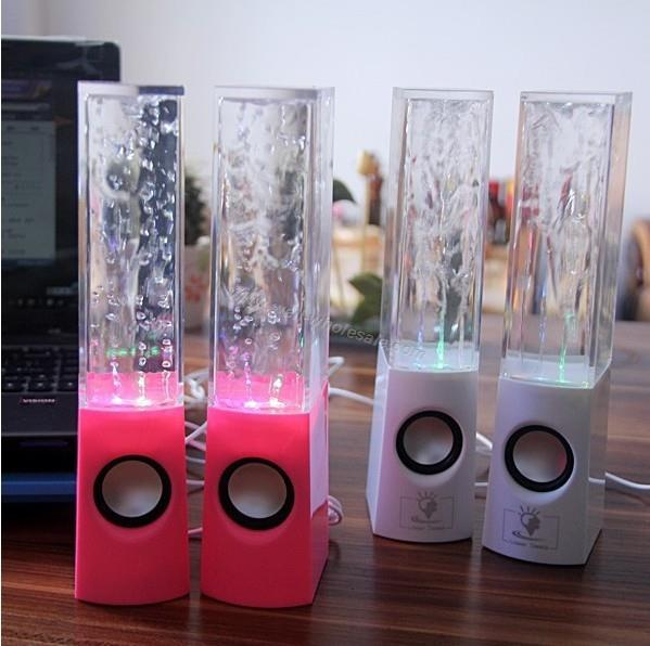 Creative LED water dancing fountain light music speaker sound