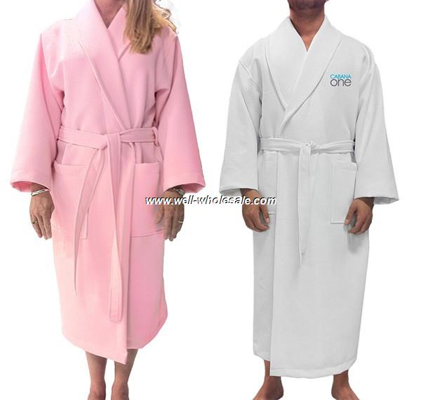 Hotel Terry bathrobe, Velour bathrobe, Robe