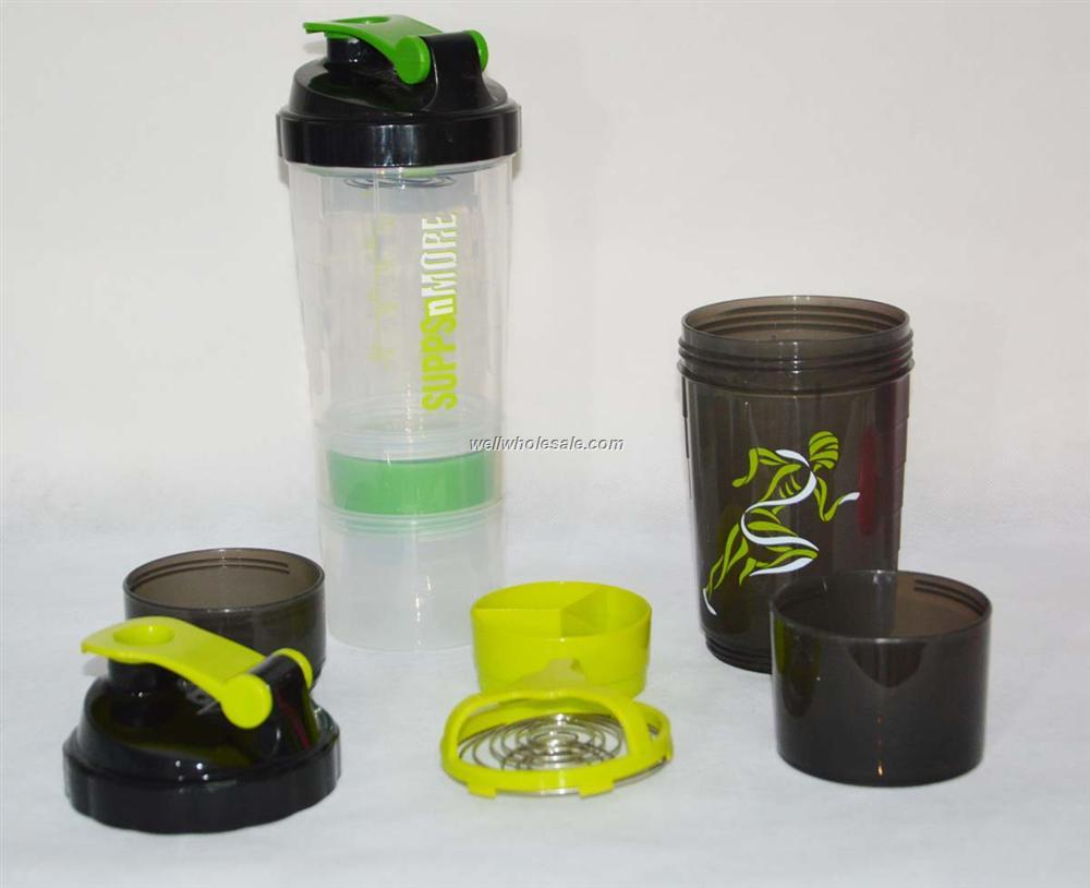 all-in-one blender bottle with powder or pill jar