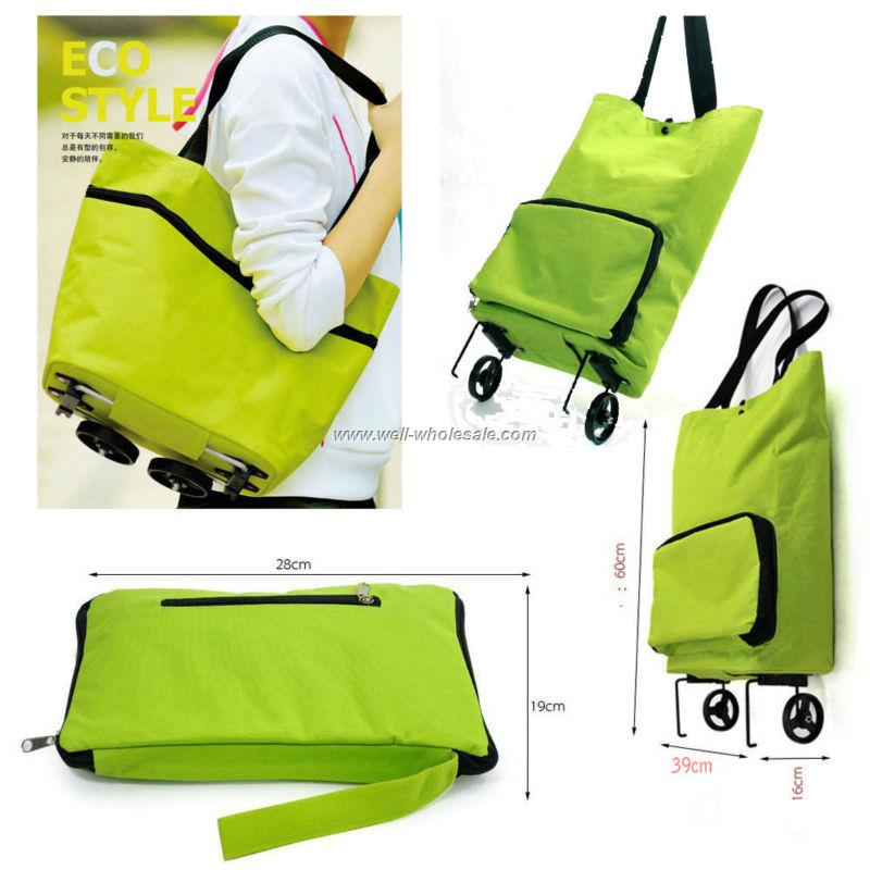 Easy carry foldable shopping trolley bag