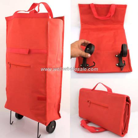 Wholesale foldable shopping trolley bag