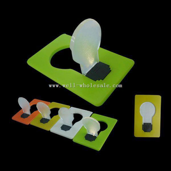 NEW Portable Pocket LED Card Light Lamp Put in Purse Wallet