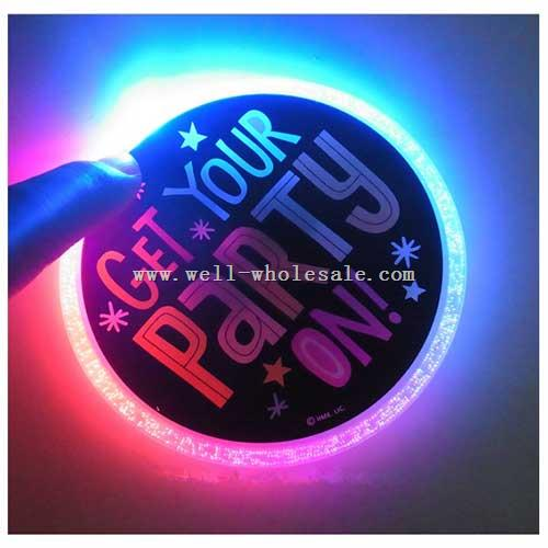 LED Flashing Neon Coaster LED Flashing Bottle Coaster LED Flashing Glass Drink Coasters