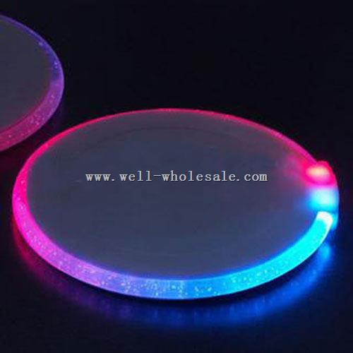 LED Flashing Bottle Coaster LED Flashing Glass Drink Coasters Glowing Cup Coaster