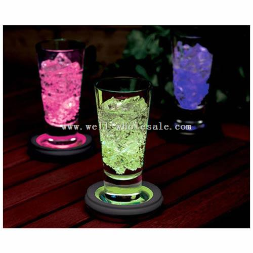 LED Light Drink Cup coaster Flashing Drink Bottle Coaster Glass Flashing Light Coaster